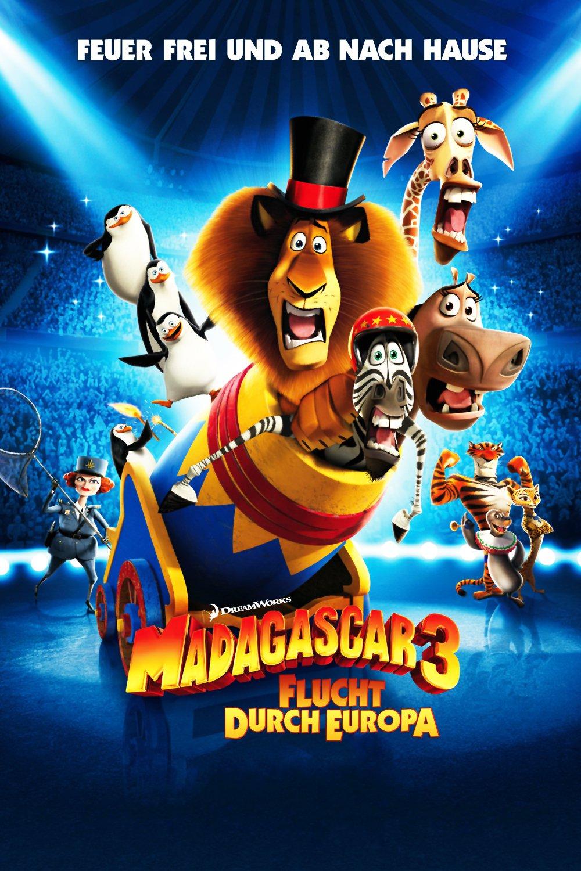 """Plakat von """"Madagascar 3 - Flucht durch Europa"""""""