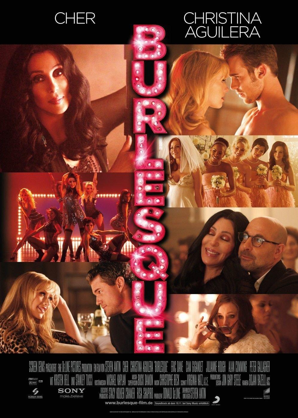 """Plakat von """"Burlesque"""""""