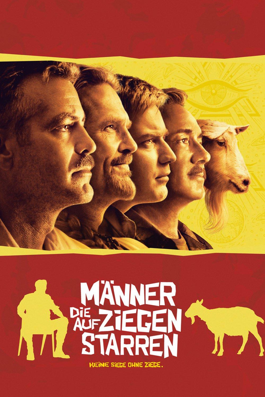 """Plakat von """"Männer die auf Ziegen starren"""""""