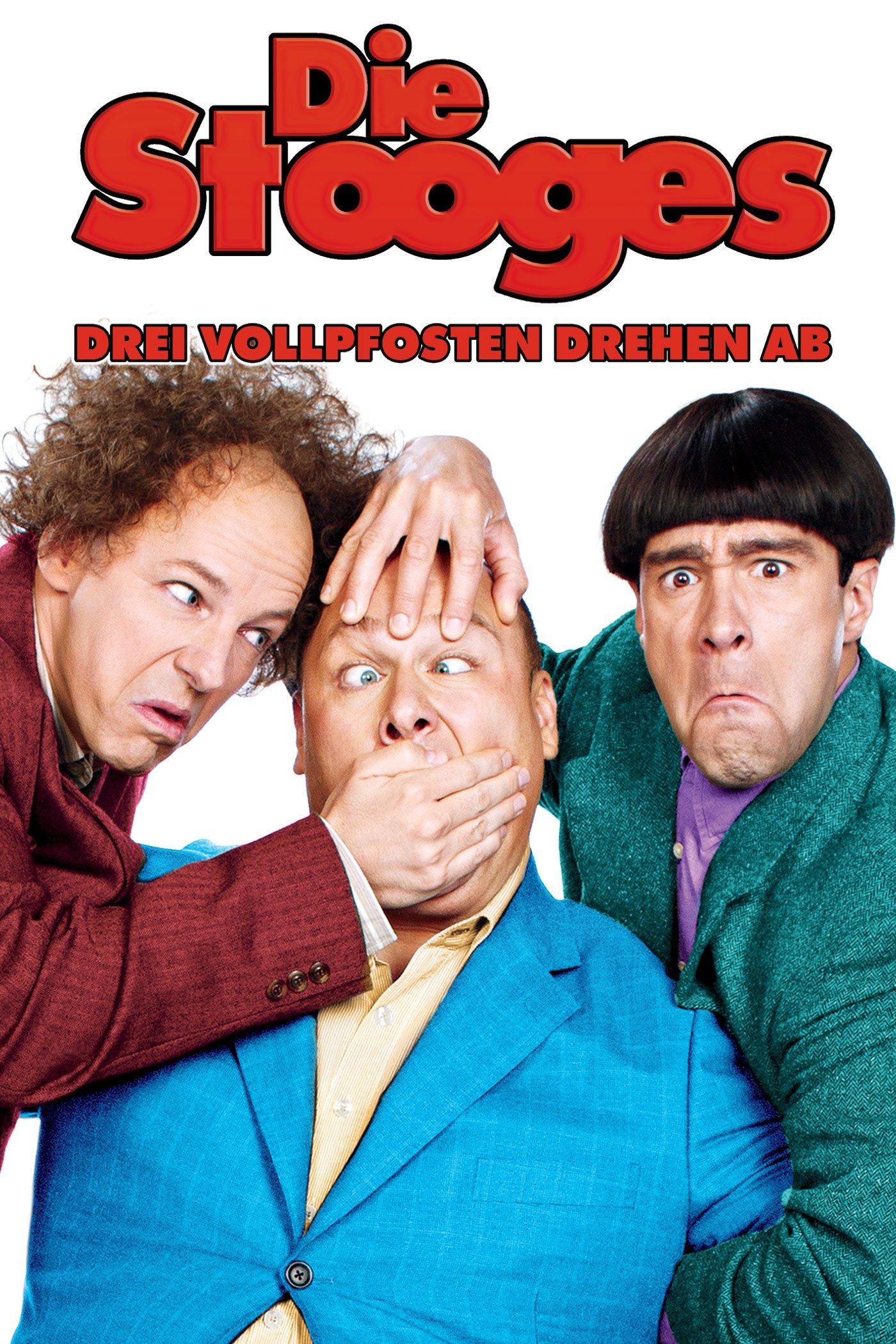 """Plakat von """"Die Stooges - Drei Vollpfosten drehen ab"""""""