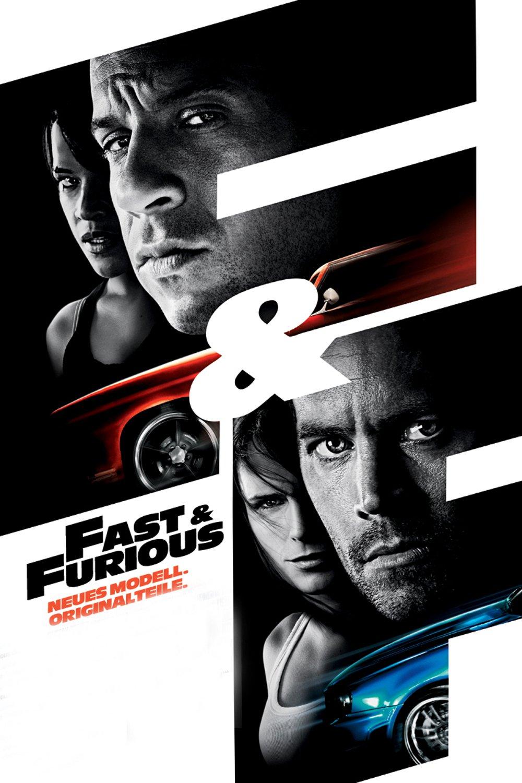 """Plakat von """"Fast & Furious - Neues Modell. Originalteile."""""""