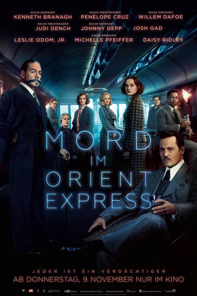 """Plakat von """"Mord im Orient Express"""""""