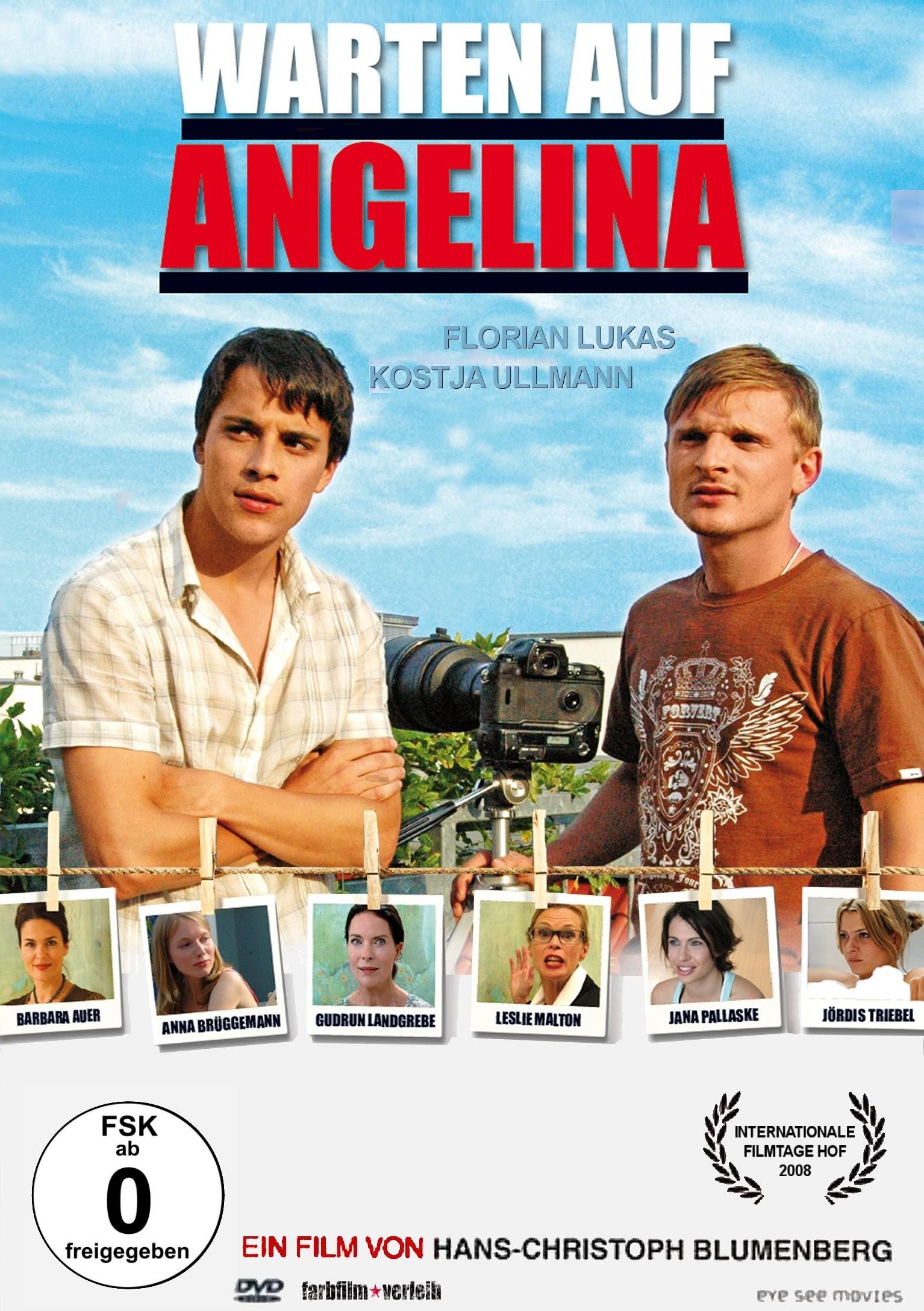 """Plakat von """"Warten auf Angelina"""""""