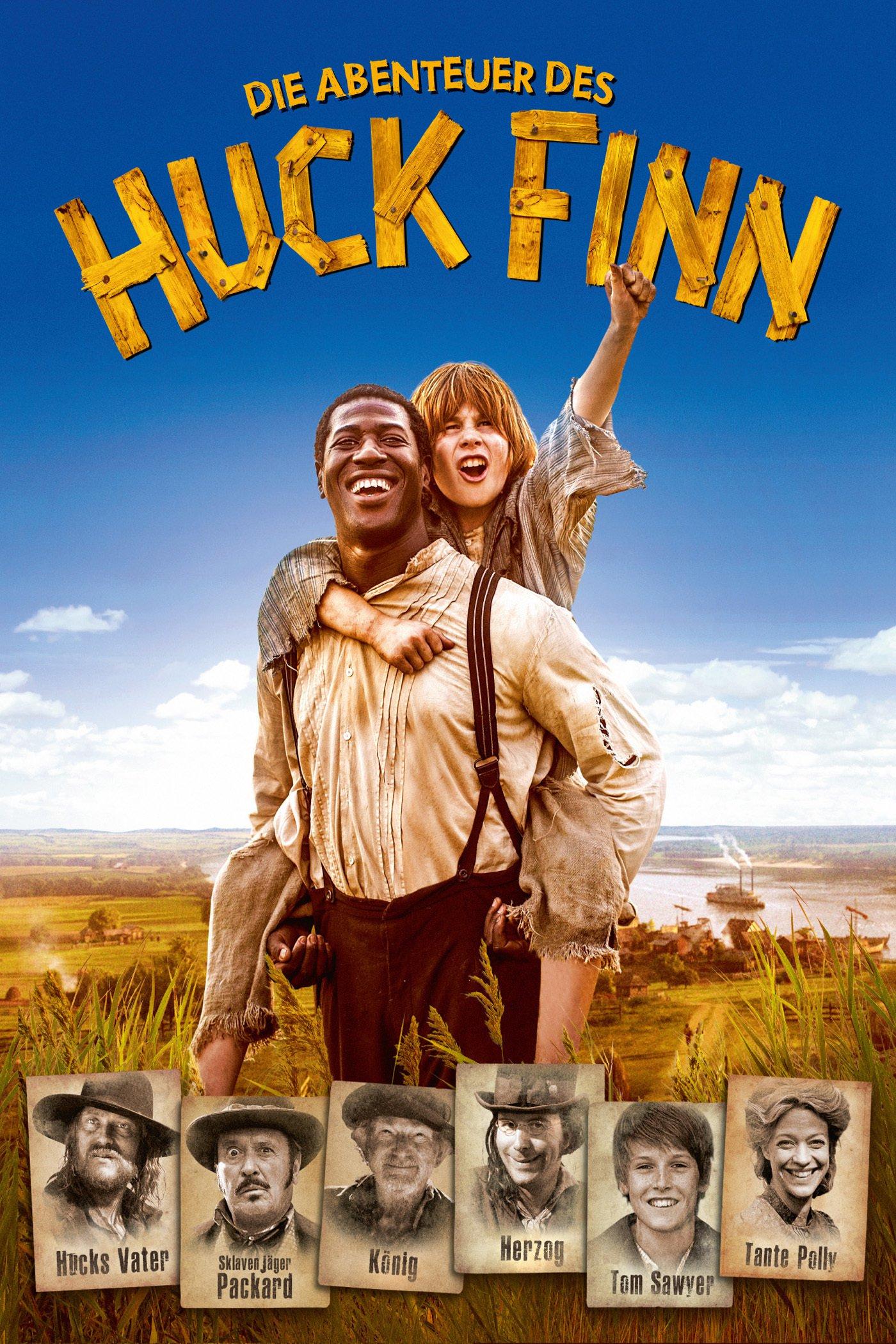"""Plakat von """"Die Abenteuer des Huck Finn"""""""