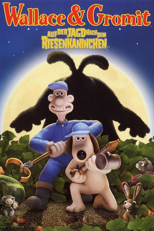 """Plakat von """"Wallace & Gromit - Auf der Jagd nach dem Riesenkaninchen"""""""