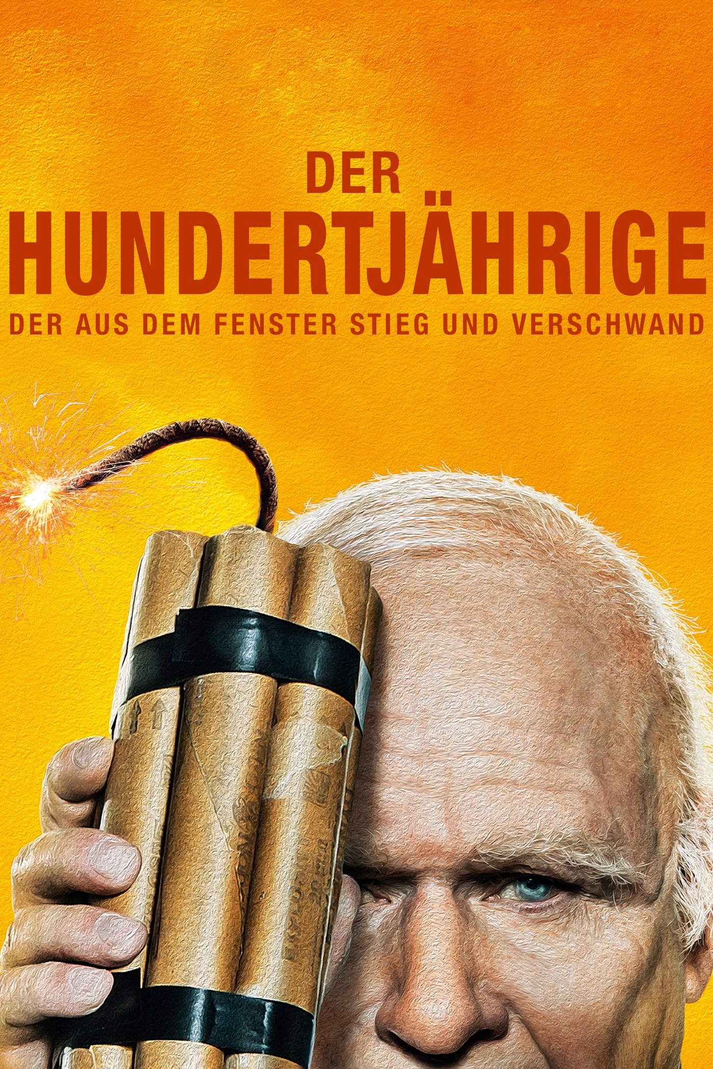 """Plakat von """"Der Hundertjährige, der aus dem Fenster stieg und verschwand"""""""