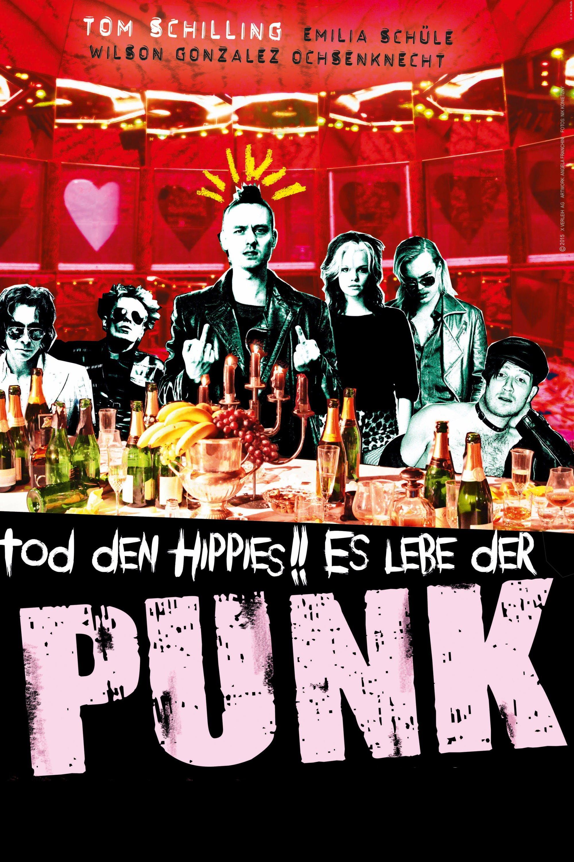"""Plakat von """"Tod den Hippies!! Es lebe der Punk!"""""""