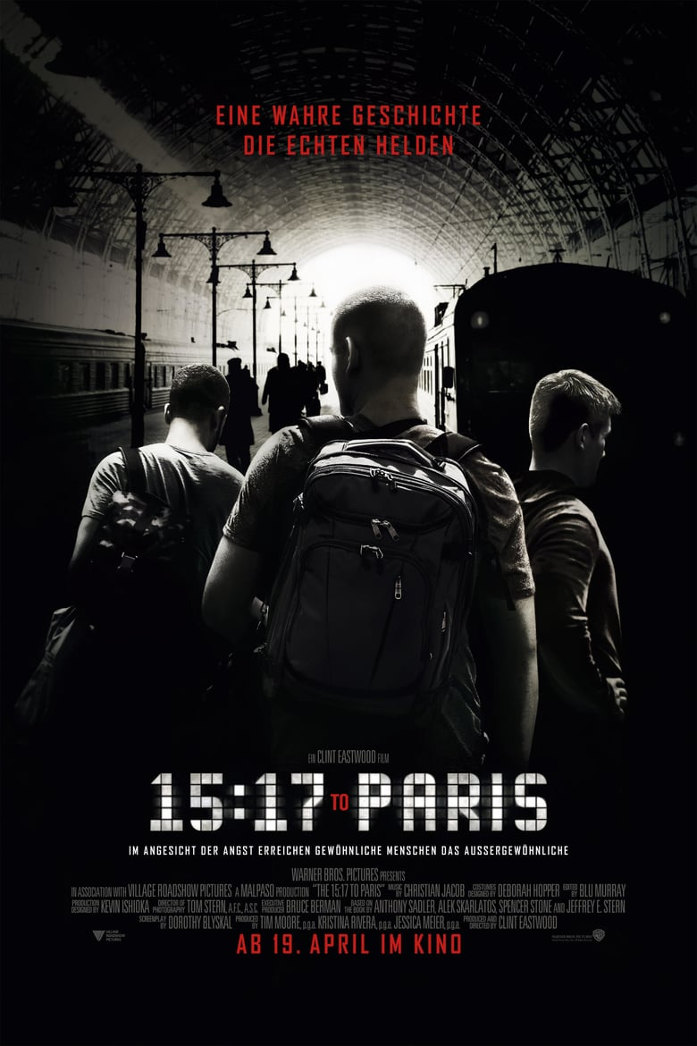 "Plakat von ""15:17 to Paris"""
