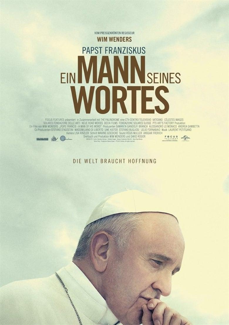 """Plakat von """"Papst Franziskus: Ein Mann seines Wortes"""""""