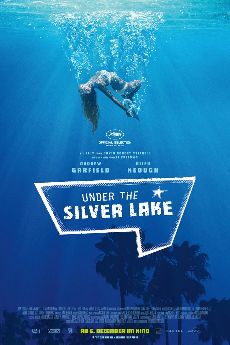 "Plakat von ""Under the Silver Lake"""