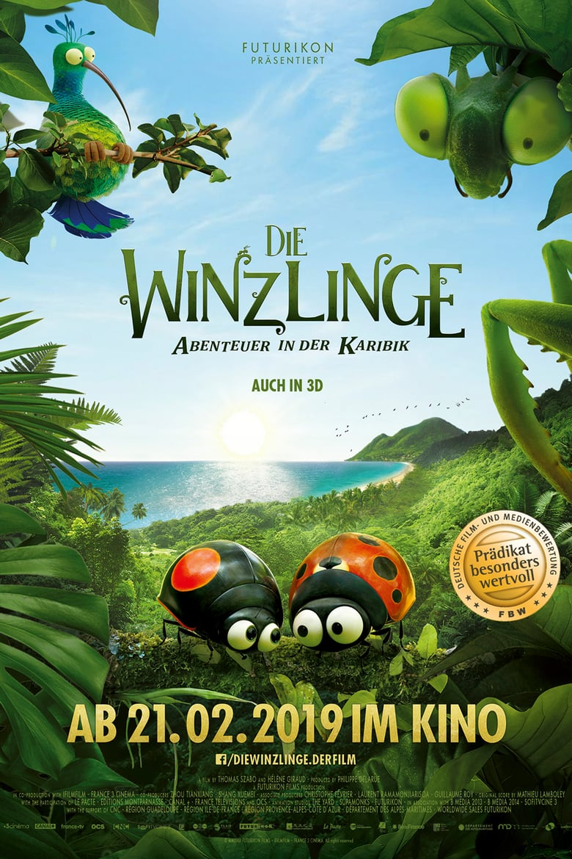 """Plakat von """"Die Winzlinge – Abenteuer in der Karibik"""""""