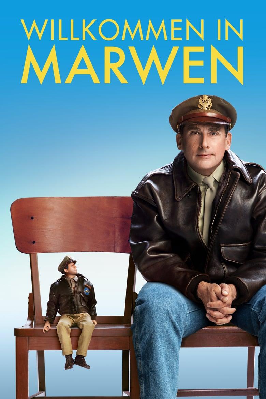 """Plakat von """"Willkommen in Marwen"""""""